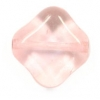 Glass Bead Diamond Shape 12mm Crystal/Pink - Strung